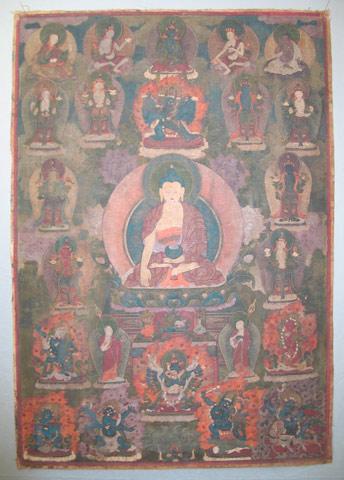 Bild: Buddha Gautama, Gesamtansicht Vorderseite, vor der Restaurierung