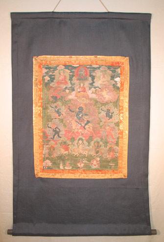 Bild: Göttin Lhamo, Gesamtansicht Vorderseite, nach der Restaurierung