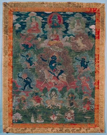 Bild: Göttin Lhamo, Gesamtansicht Vorderseite, vor der Restaurierung