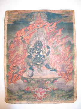 Mahakala, Gesamtansicht Vorderseite Bildteil, vor der Restaurierung